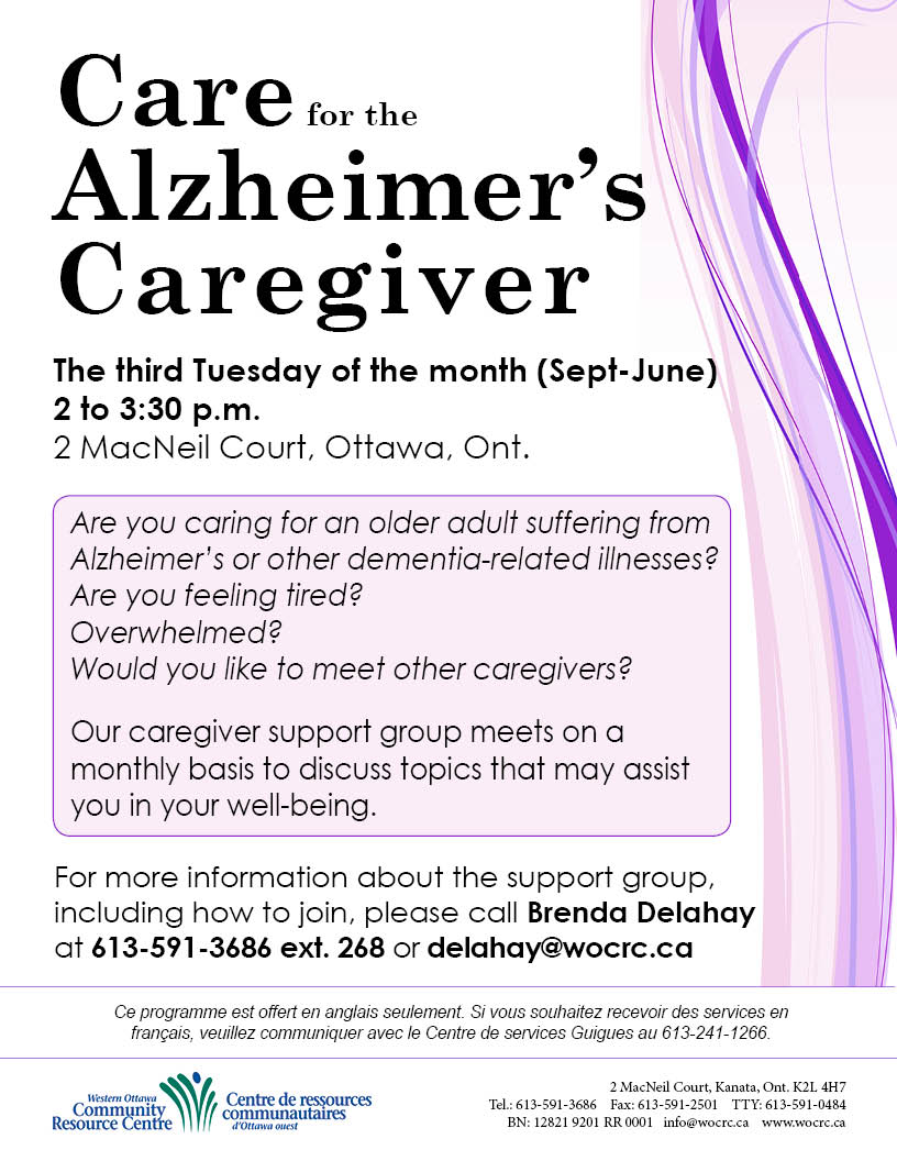 Care for the Alzheimer's Caregiver Poster 2016