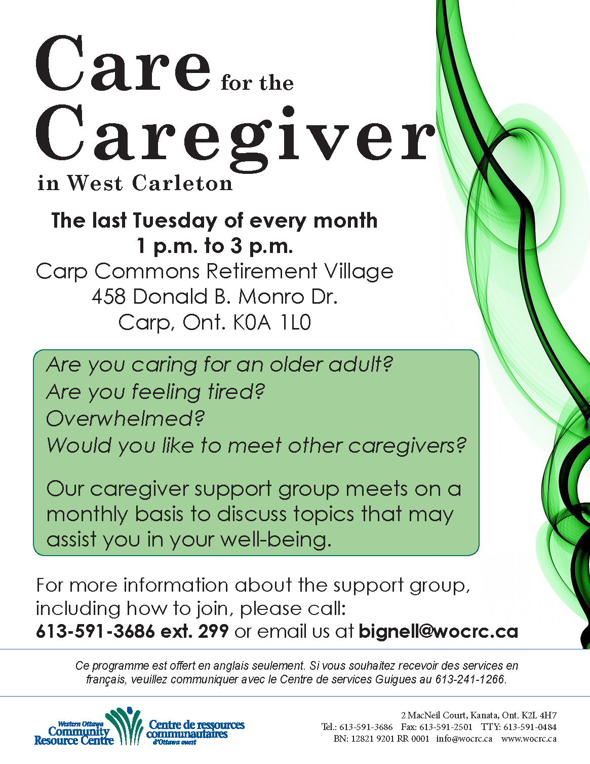 Care for the Caregiver - West Carleton