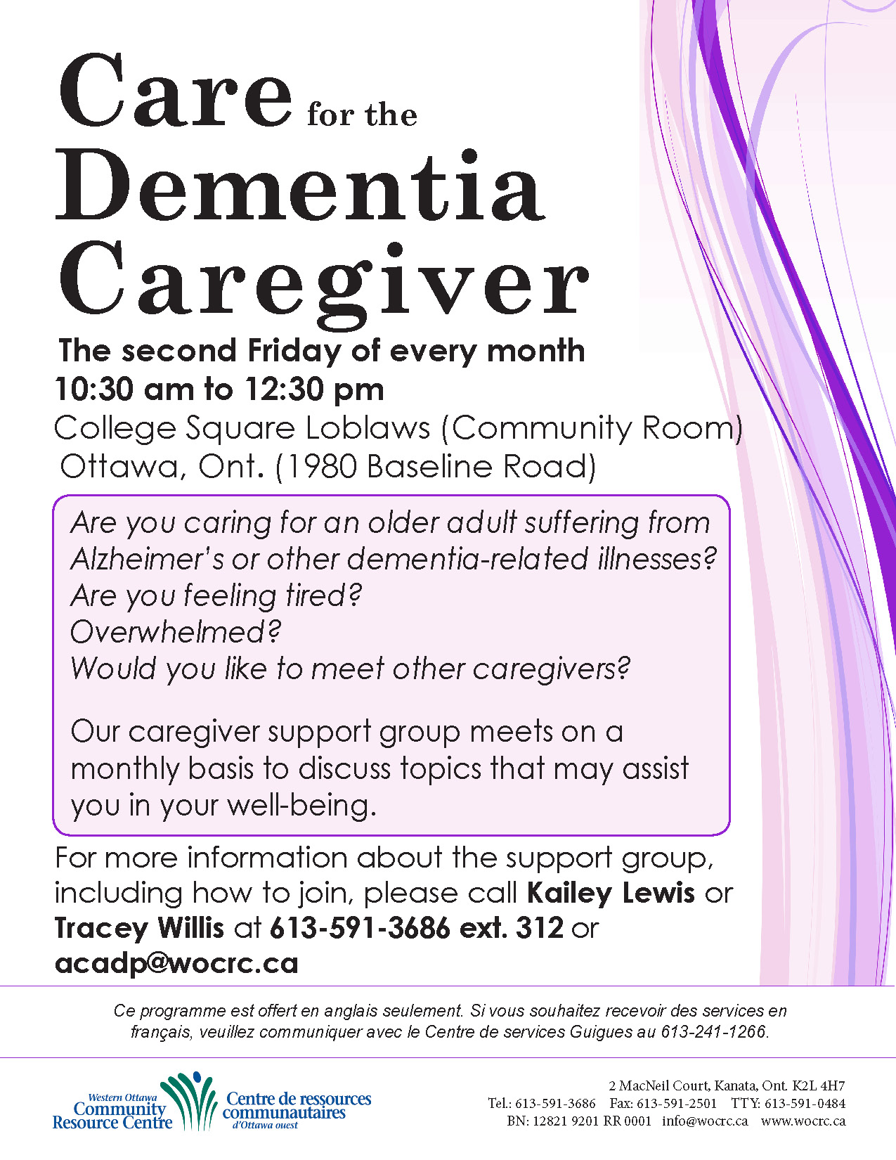 Care for the Dementia Caregiver Poster 2018 update