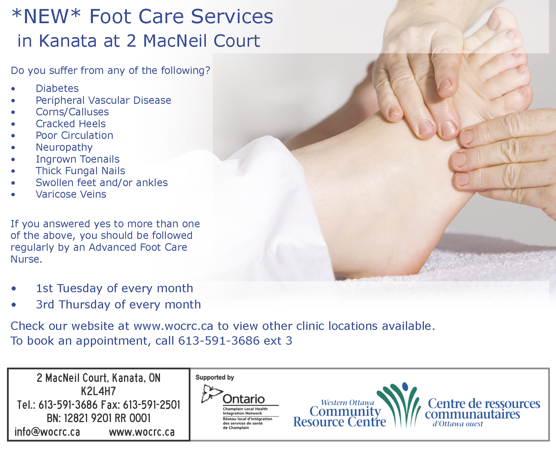 Foot Care Service Card