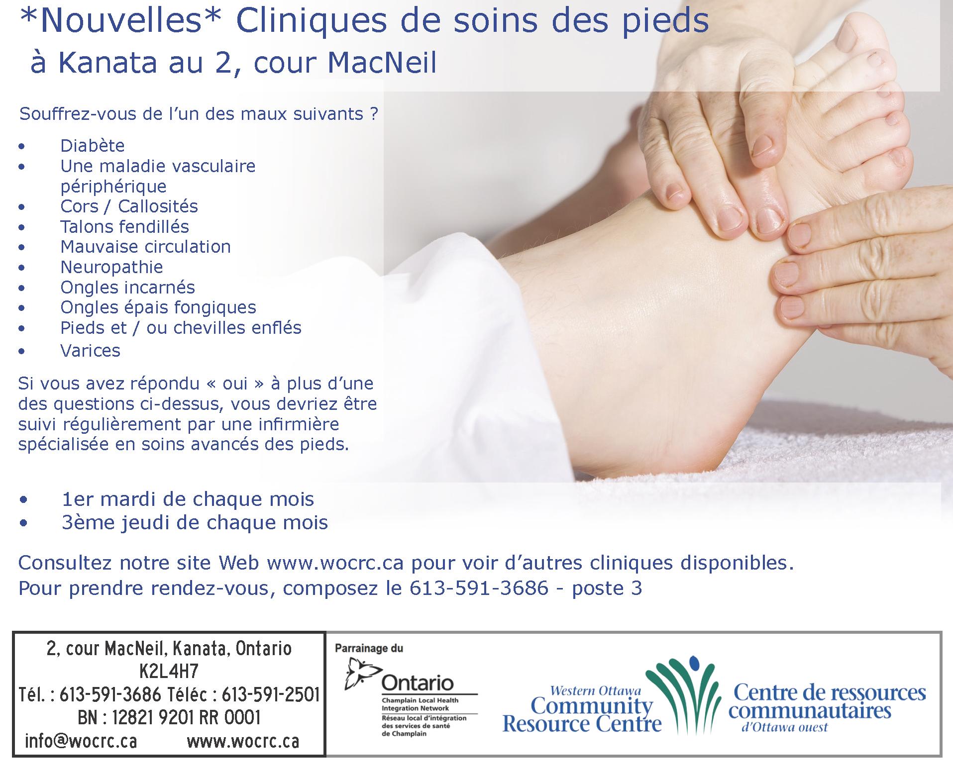 Cliniques de soins des pieds à Kanata au 2, cour MacNeil