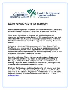 WOCRC NOTIFICATION TO THE COMMUNITY-EN