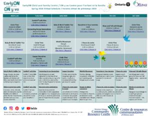 EarlyON Spring Calendar May 22, 2020