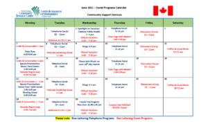 CSS Calendar June 2021 Eng