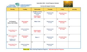 CSS Calendar September 2021 - Page 1