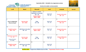 CSS Calendar September 2021 - FR - Page 1